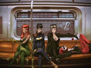 gotham-subway-catwoman-poison-ivy-harley-batgirl